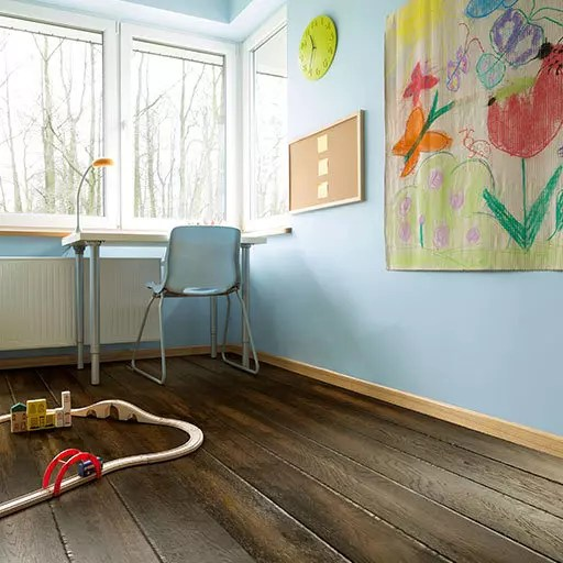 Dunkel Vintage Wood Floor by Johnson Hardwood