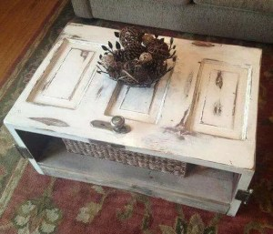 how to make a Coffee Table out of an old wood reclaimed door