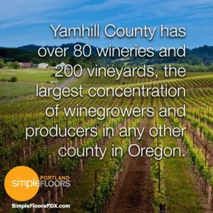 There are over 80 wineries in Yamhill County