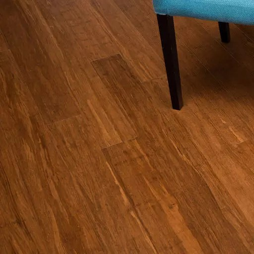 Beautiful dining room floor in bamboo