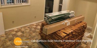 Cali Bamboo Solid Mocha Fossilized Click Flooring