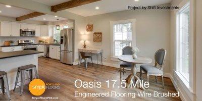 Engineered Wood Flooring Wire Brushed - Oasis