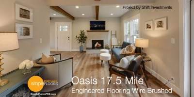 Wire Brushed Engineered Wood Floors - Oasis