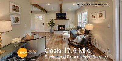 Wire Brushed Engineered Wood Floors - Oasis