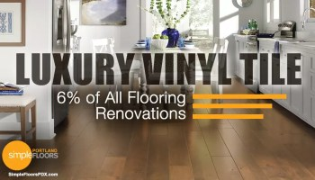 Amount of luxury vinyl tile installed in the USA