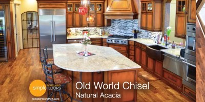 Natural Acacia wood floor Portland
