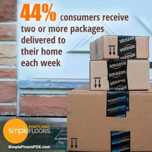 Home package delivery spaces are a popular design trend