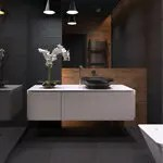 Dark and Sultry Bathroom Design