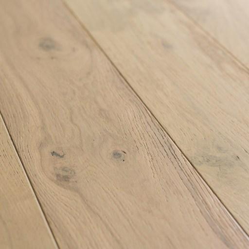 Closeup - Naturally Aged White Mist Engineered Hardwood Floor - Oak