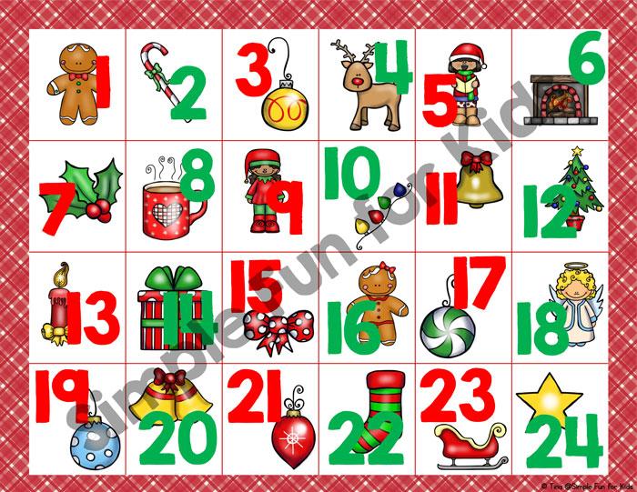 24 Days Of Christmas Printables Christmas Countdown