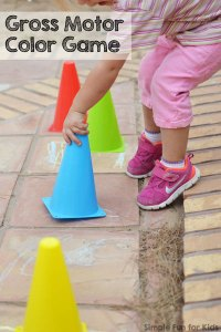 Gross Motor Color Game   Simple Fun for Kids A super simple game to get your kid moving and reviewing colors