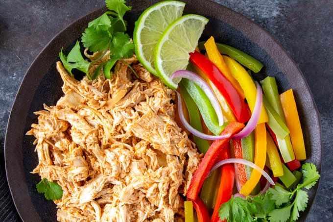 shredded chicken for crockpot chicken fajitas
