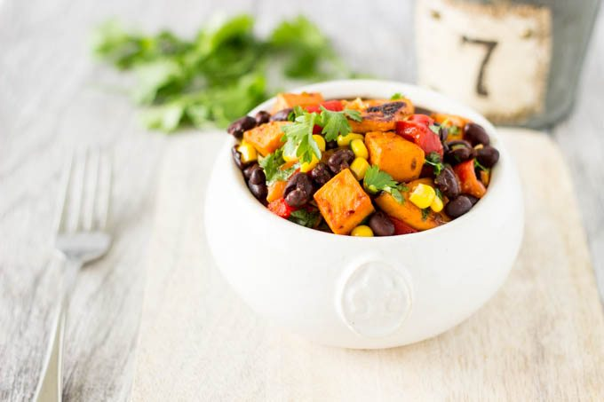 sweet potatoes black bean corn salad
