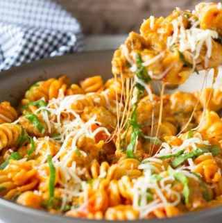 Spicy Sausage and Spinach Skillet Pasta