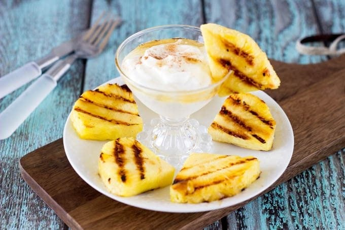 grilled fruit and yogurt- simplehealthykitchen.com  #clean eating