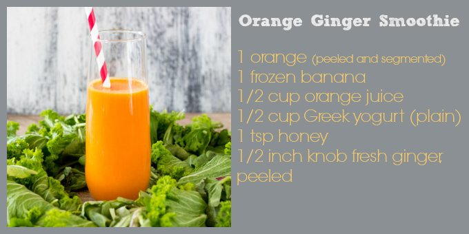 orange ginger smoothie