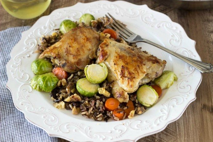 skillet chicken and wild rice- simplehealthykitchen.com (1 of 2)