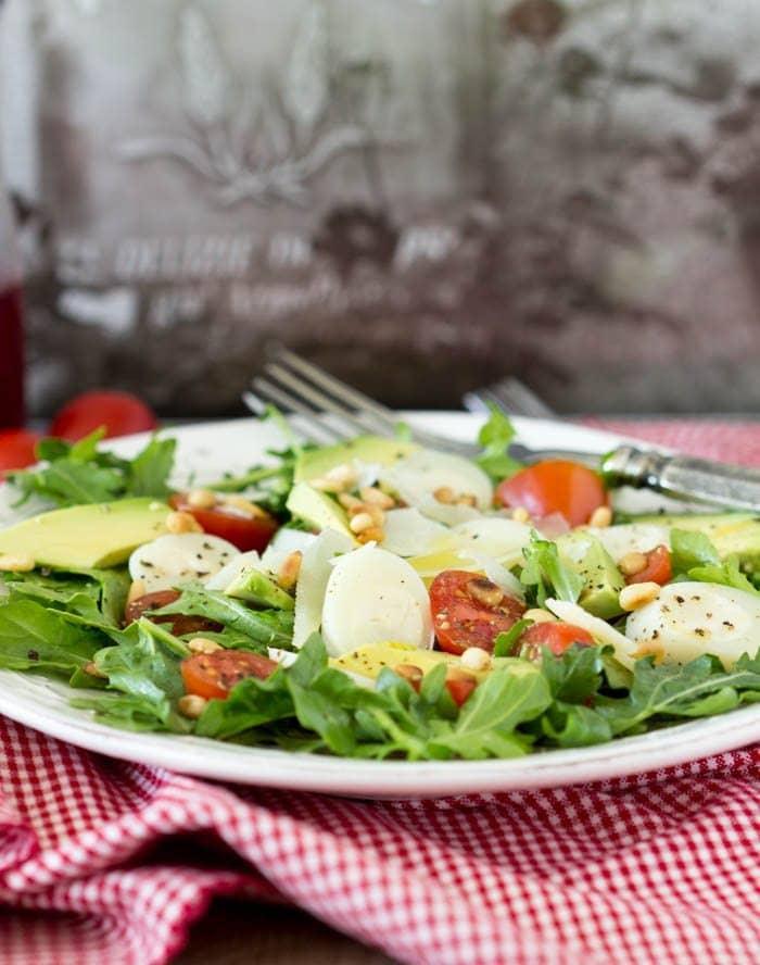 Italian Salad restaurant style- SimpleHealthyKitchen.com