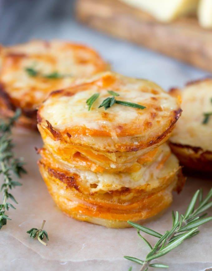 How to make scalloped potatoes with mozzarella cheese