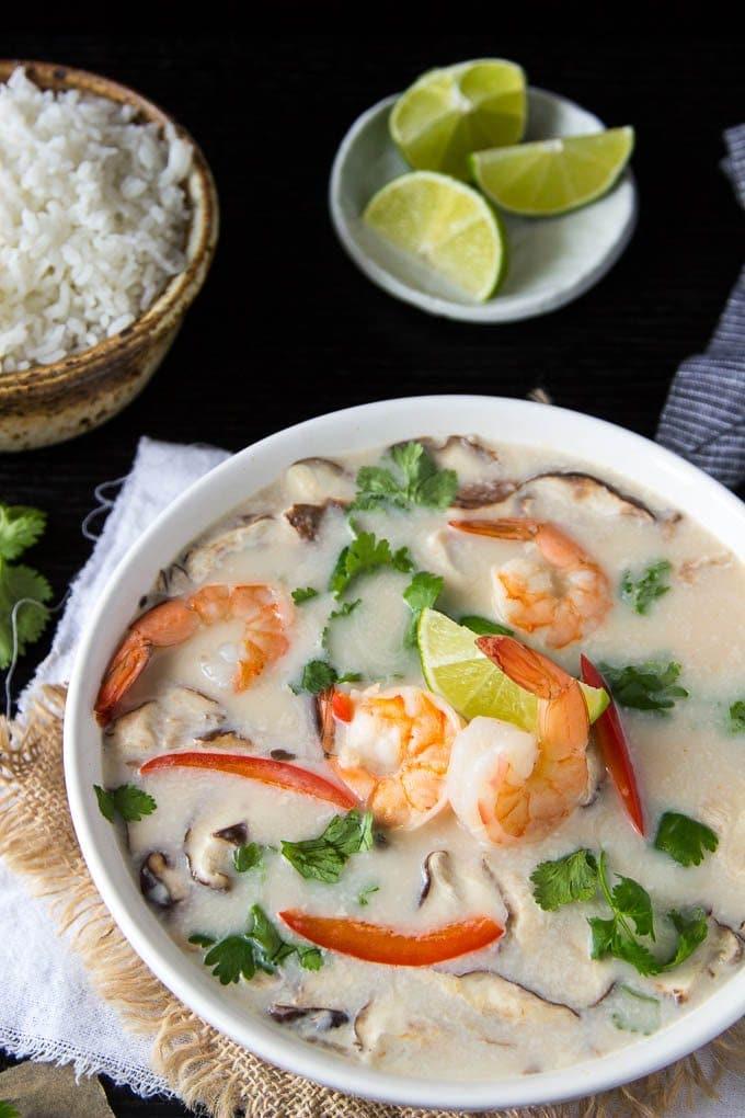 Tom Kha Soup   One Pot Thai Coconut Soup with Shrimp