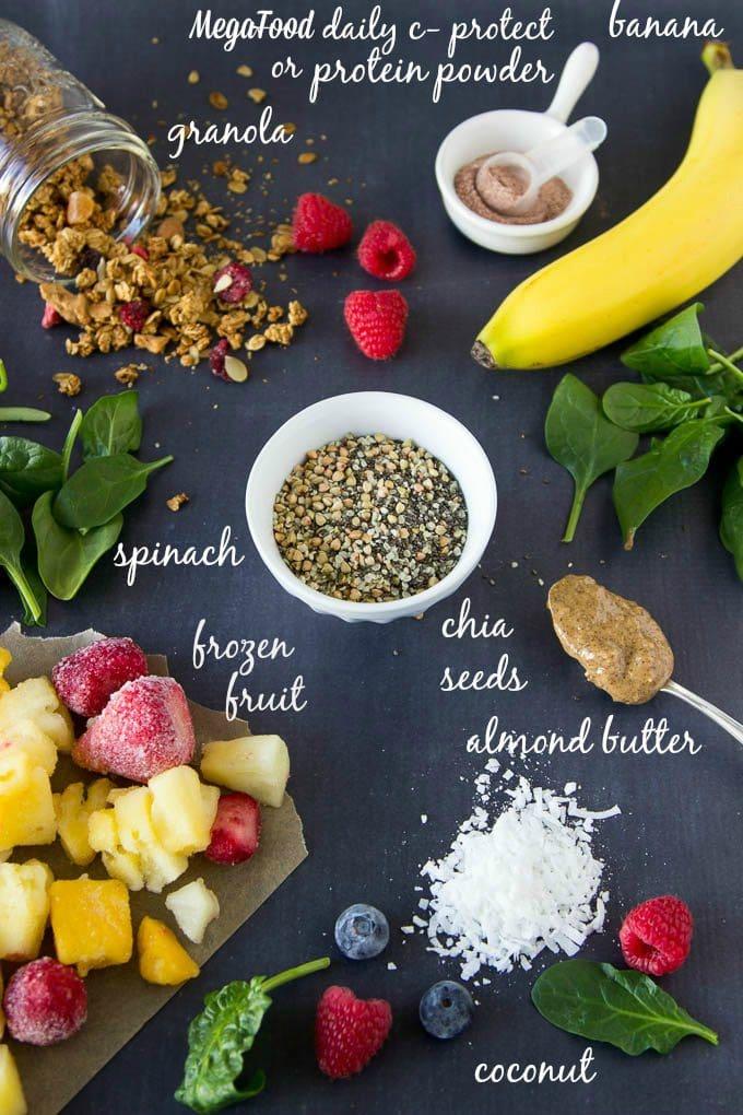 green-smoothie-bowl-ingredients daily C