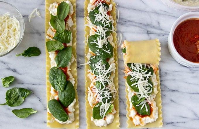 spinach-artichoke-lasagna-roll-ups steps 4-6