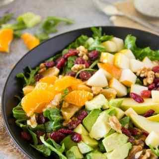 Winter Chopped Salad with Mandarin Poppy Seed dressing