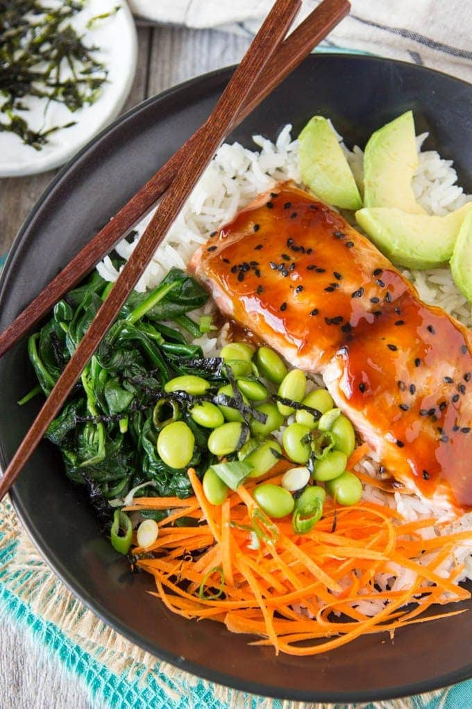 Teriyaki Salmon Bowl Simple Healthy Kitchen