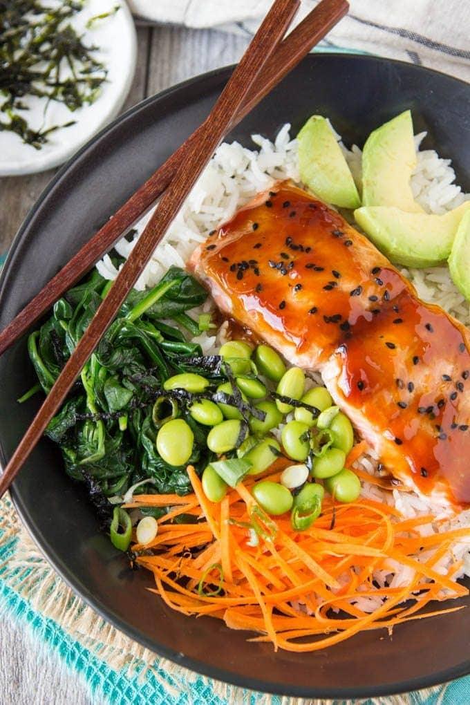 Teriyaki Salmon Bowl Simple Healthy Kitchen