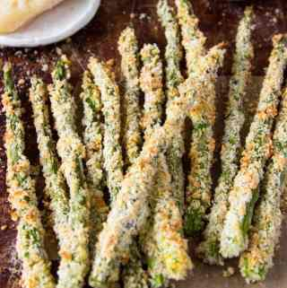 Healthy Asparagus Fries with Creamy Parmesan Dipping Sauce