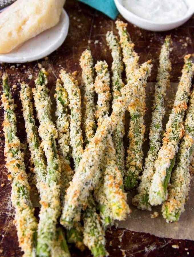 Asparagus Fries with Creamy Parmesan Dipping Sauce