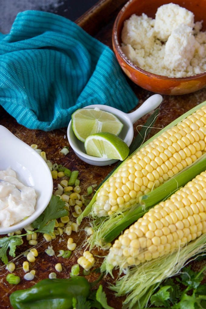 skillet-mexican-street corn ingredients