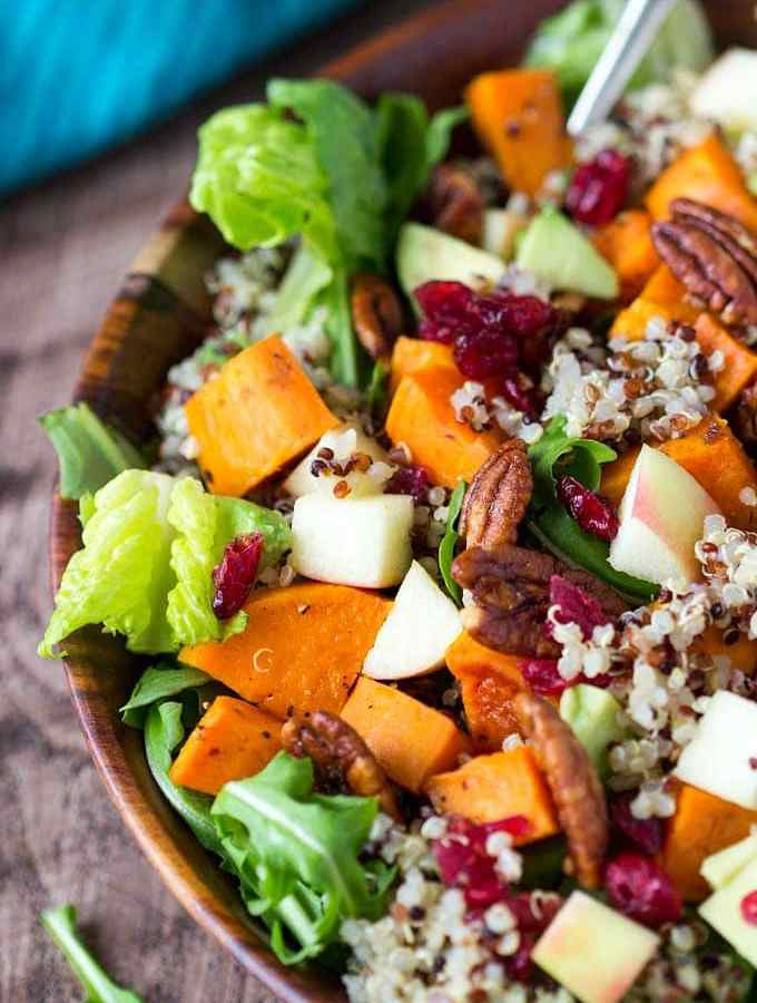 Harvest Sweet Potato + Quinoa Bowl