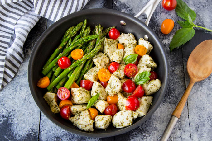 Pesto Chicken and Asparagus