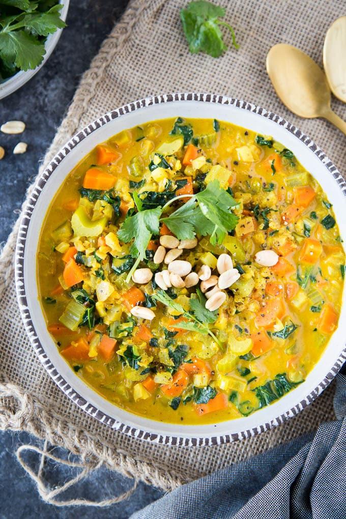 curried cauliflower rice soup 3