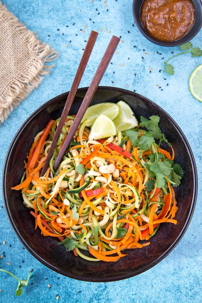 zucchini + carrot noodles featured