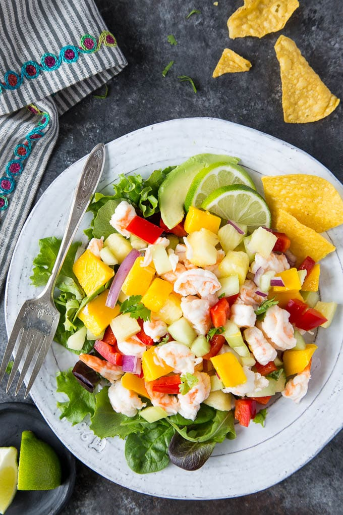 Shrimp Ceviche with Mango & Pineapple