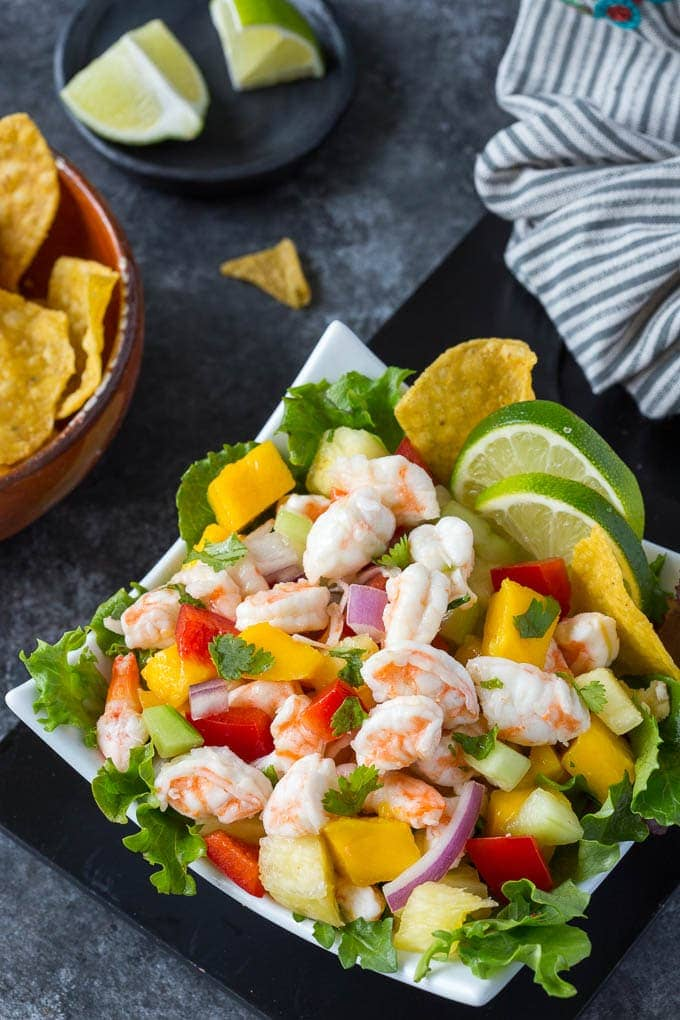mango shrimp ceviche featured