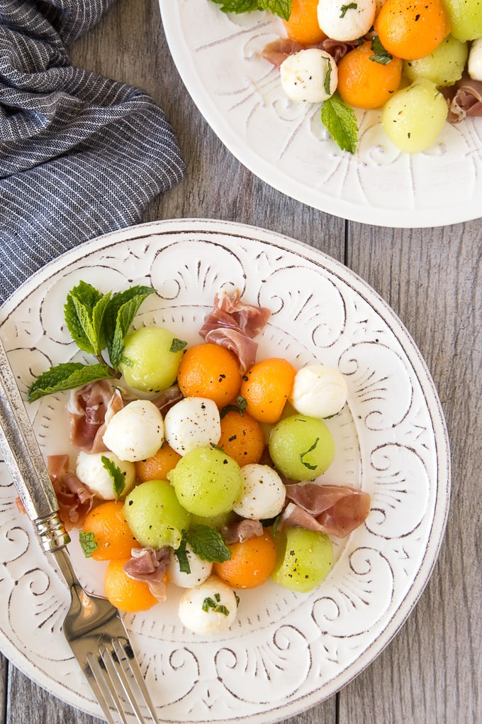 Summer Melon & Prosciutto Salad