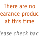 No Clearance Products