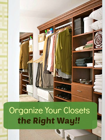 Organizing the master closet the right way
