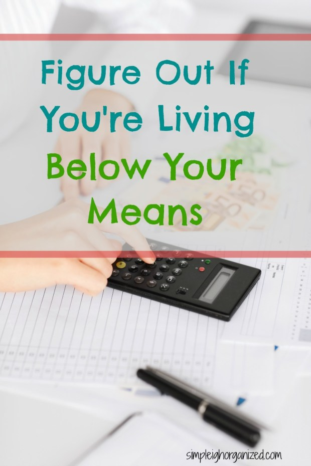Are You Living Below Your Means