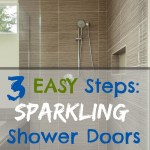 3 Steps to Clean Your Shower Doors