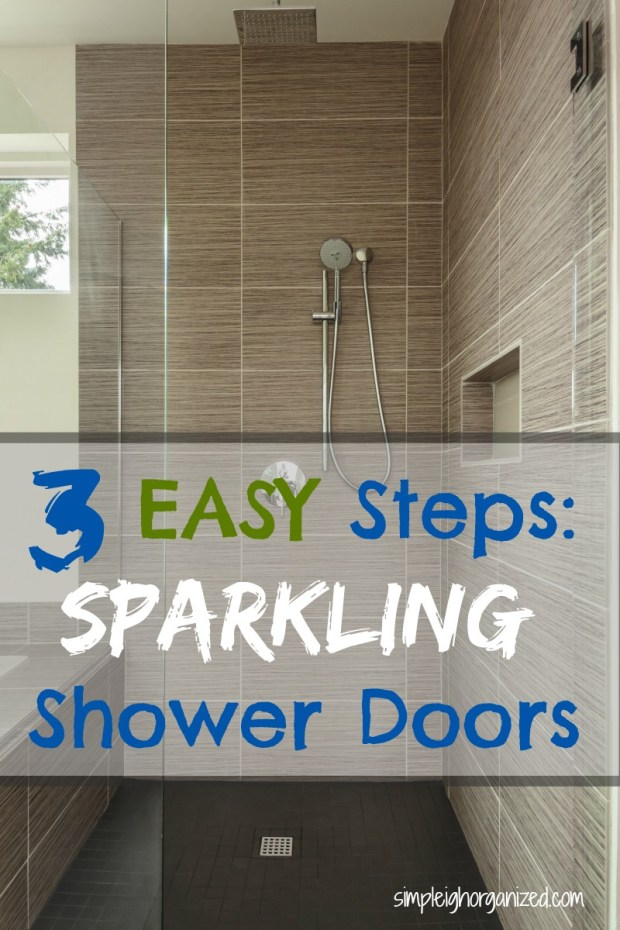 3 Easy Steps to Clean Your Shower Doors