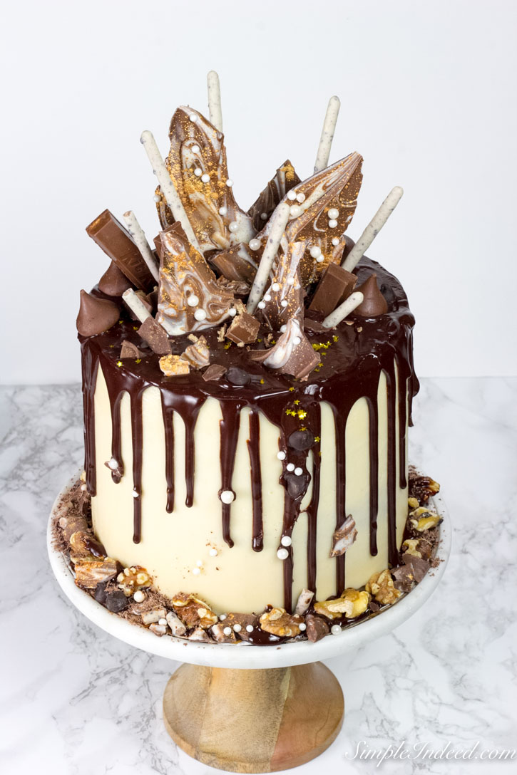 Drip Cake With White Chocolate