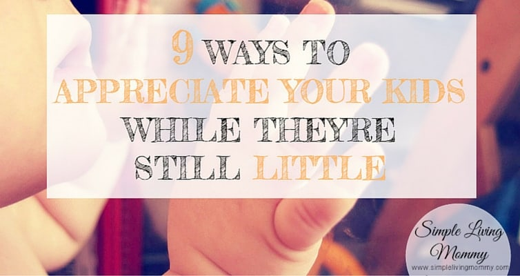 Ever feel like time is whizzing by while your kids grow like weeds? This is one blogger's list of 9 tips to appreciate your kids while they're still little.