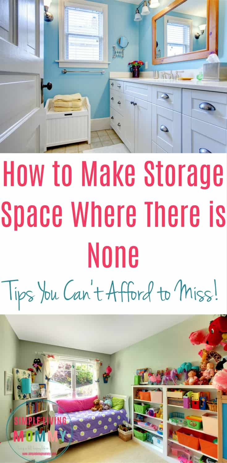 Do you struggle to get organized but feel you just don't have enough storage space? Especially if you live in a small home, getting organized can be a constant battle. These tips almost gave me permission to use the space we had that I would've never thought to use before. I'm so happy I finally found this!