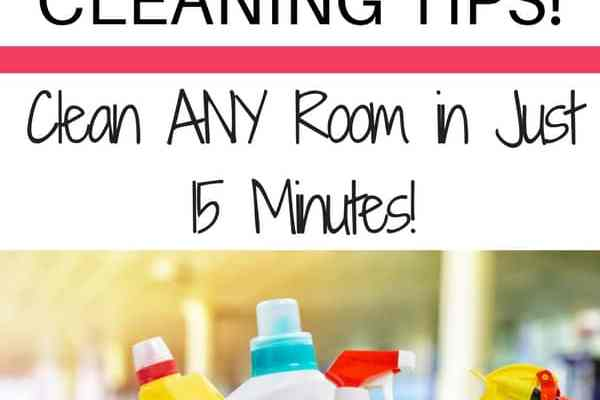 Messy house but no time to clean? Get any room under control in just 15 minutes with this genius speed cleaning method!