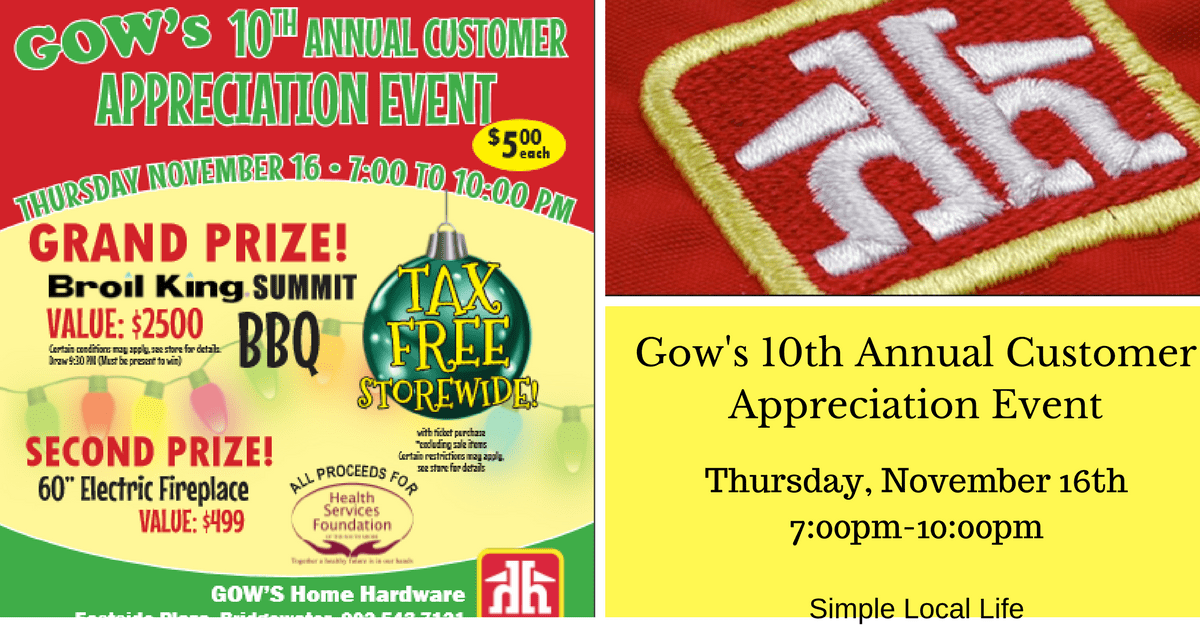 Gow's Home Hardware 10th Annual Customer Appreciation Event