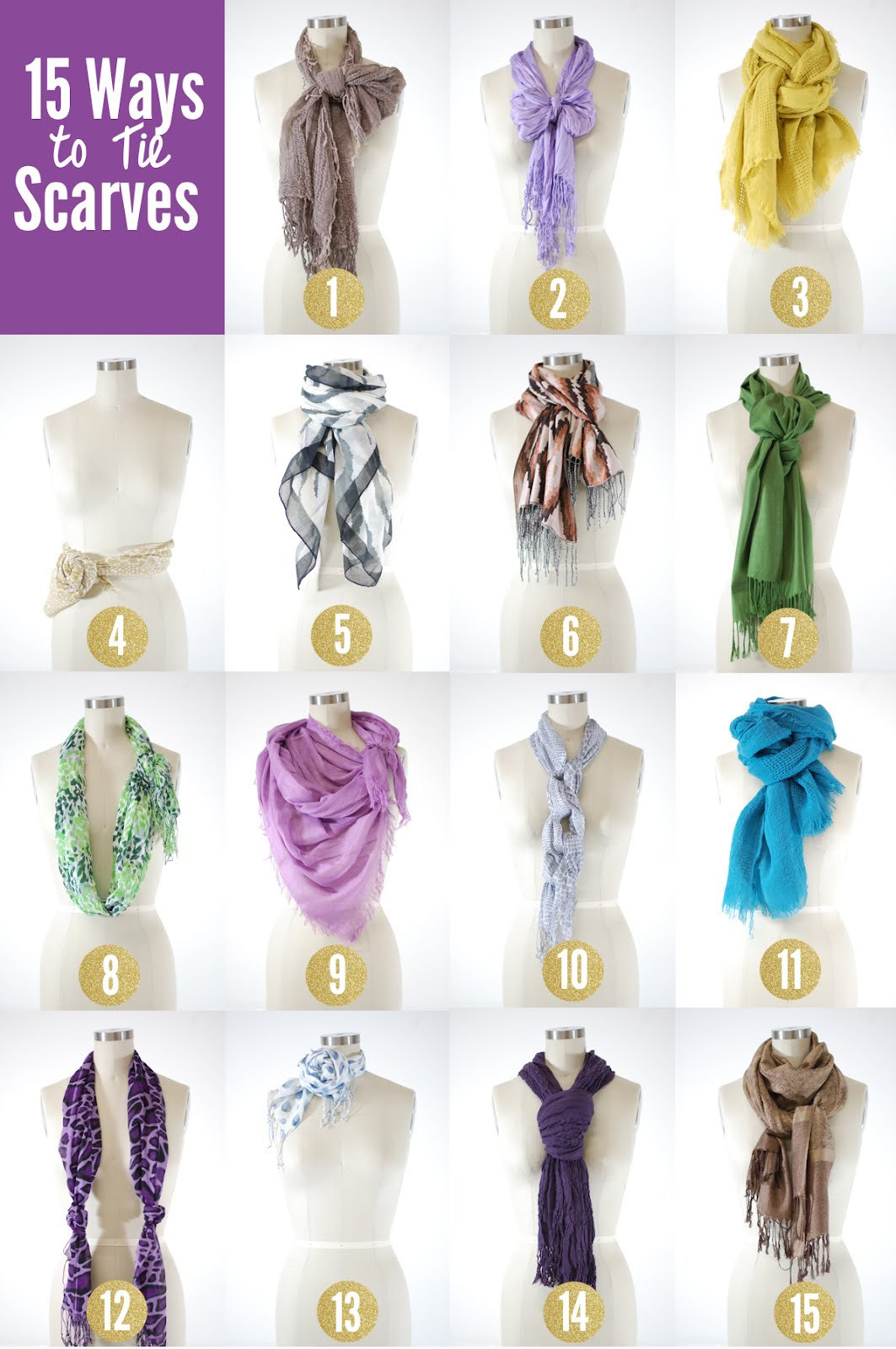 Easy Tie Dye Tips And Step By Step Instructions: 15 Chic Ways To Tie A Scarf